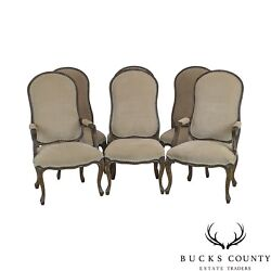 Italmond Custom Upholstered French Louis Xv Style Set Of 6 Dining Chairs