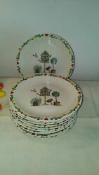 Birdhouse By Thomson - Salad Plates - Set Of 10 Discontinued