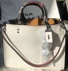 NWT COACH 1941 ROGUE Patchwork-Snakeskin Handles Leather $899