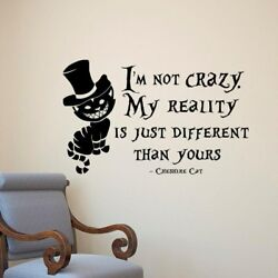 Cheshire Cat Wall Stickers PVC Removable Alice In Wonderland Vinyl Art Wall