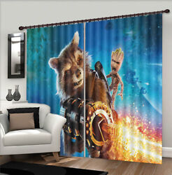 Squirrel Sky Cannon 3d Curtains Blockout Photo Printing Curtains Drape Fabric