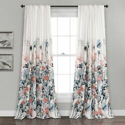 Lush Decor Zuri Flora Window Curtain Panel Pair 84