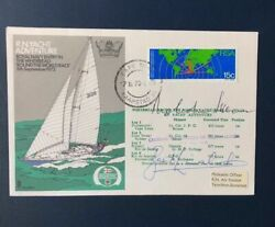 1973 R N Yacht Adventure - Whitbread Round The World Race - Multi Signed Cover