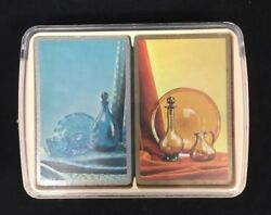 Vtg United States Playing Card Co.playing Cards Mcm Genie Bottles Blue And Gold