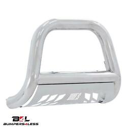 Aries 45-3012 4 Big Horn Polished Bull Bar W/ Brushed Skid Plate For 11-16 F250