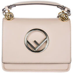 FENDI WOMEN'S HANDBAG CROSS-BODY MESSENGER BAG PURSE KAN I LOGO PINK C26