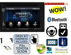 For Toyota And Scion Usb Bluetooth Dvd Stereo Installation Double Din Dash Kit
