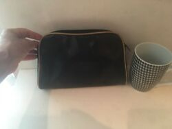 Gucci Black Cosmetic Makeup Clutch Pouch Evening Bag