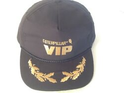 Vintage Caterpillar Cat Vip Official Hat Cap Black Gold Embroidery Snapback Usa
