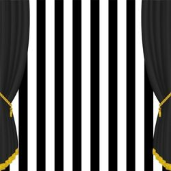 8x8Ft Black And White Stripes Stage Curtain Backdrop Event Portrait Photography