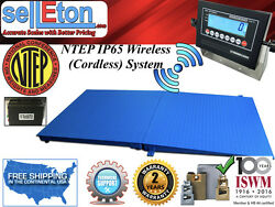 Ntep Floor Scale 48 X 96 4and039 X 8and039 2000 Lbs X .5 Lb Wireless Cordless + 1 Ramp
