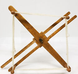Antique Vintage Shaker Style Knitty Noddy Yarn Spinner Maple Spindle