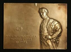 James Mcneill Whistler Bronze Plaquette By Victor David Brenner-free Shipping Us