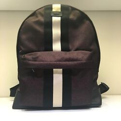 NEW BALLY HINGIS NYLON BACKPACK IN MERLOT DESIGNER BAG - 16.5'' x 12'' x 6'