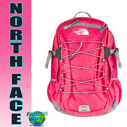The North Face Classic Borealis Backpack 15'' Laptop School Bag Rose Red NEW