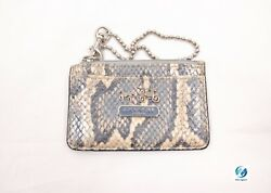 COACH Leather ID Case Card Coin Holder Wristlet Mul-Col Animal Print NewAgain