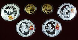 2008 China Official Commemorative Gold And Silver Coin Set Type 1 Olympic Set Coa