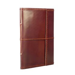 Fair Trade Handmade Stitched Leather Photo Album Eco Friendly Recycled Paper