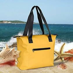 Large Beach Bag Waterproof Tote With Zipper Lining For Gym Hiking Picnic Travel