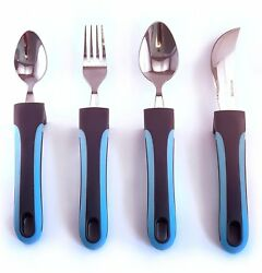 BUNMO Adaptive Utensils - Weighted Knives Forks and Spoons Silverware Set for