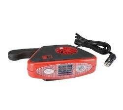 12 Volt DC Auto Heater  Defroster with Light  ELECTRIC PORTABLE CAR HEATER