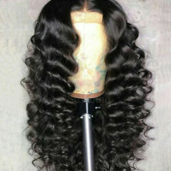 Virgin Human Hair Lace Front Wig Wavy Glueless Brazilian Full Lace Wig Baby Hair