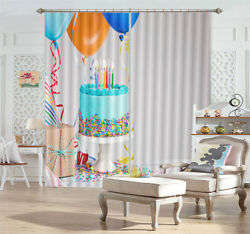 Double Creamy Cake 3d Curtains Blockout Photo Printing Curtains Drape Fabric