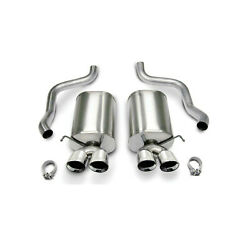 Corsa 2.5 Axle-back Dual Rear Exit Twin 3.5 Polished Tip For Chevy Corvette