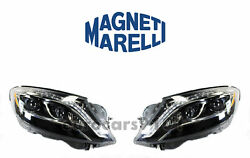 New Mercedes Set Of Left And Right Xenon Headlights Marelli Lus7362 Lus7361