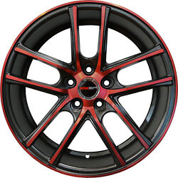 4 ZERO Wheels 18 inch Black Crimson Red Rims fits CHEVY IMPALA 2000 - 2013