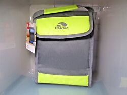 New with Tag Igloo Bag It Cooler Bag 5 Cans Gray Yellow $15.99