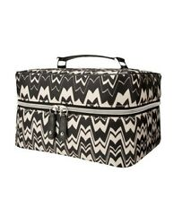 NEW Missoni for Target Large Cosmetic Make up Bag Train Case Black and White NWT