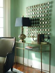 """Contemporary Chic Mini Round Mirrors Wall Art Display Large 40"""" Modern Horchow"""