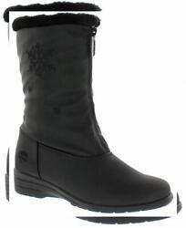 Totes Womens Nicole Black Snow Boots (Available In Medium and Wide Width)