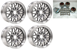 1993 - 2002 Trans Am 17x9 Snowflake Wheel Center Cap And Lug Nut Kit -gray/red