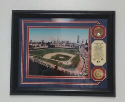 Wrigley Field Photo Chicago Cubs Game Used Infield Dirt Gold Coins Mlb Nlds 2003