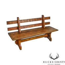 Antique Rustic Arts And Crafts Bench Settee