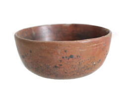 Pre Columbian Pottery Bowl Burnished Red Slip