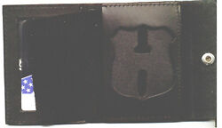 Philadelphia Police Pennsylvania Officer Recessed Badge Cut-out Snap Wallet