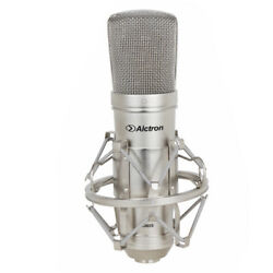 Condenser Microphone Studio Recording Vocal Mic for Broadcast with Shock Mount