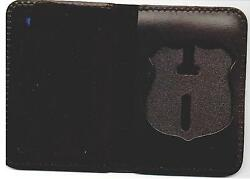 Philadelphia Police Pennsylvania Recessed Officer Badge Cut-out Id Book Wallet