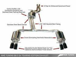 Awe Tuning Touring Edition Exhaust W/ 102mm Black Tips For 13-16 S4 3.0t Quattro