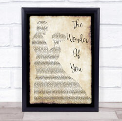 The Wonder Of You Man Lady Dancing Song Lyric Quote Print