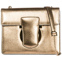 SALVATORE FERRAGAMO WOMEN'S LEATHER CROSS-BODY MESSENGER SHOULDER BAG GANCIN 67E