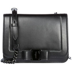 SALVATORE FERRAGAMO WOMEN'S LEATHER CROSS-BODY MESSENGER SHOULDER BAG VARA R DB4