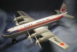 Japan Airlines Jal Tinplate Friction Toy 4 Propeller Japanese Made Rare Item