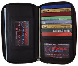 RFID Women#x27;s Double Zipper Credit Card ID Holder Premium Leather Wallet $17.98