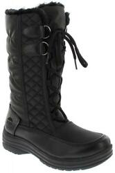 totes Womens Cam Snowboot Black Wide Calf Fit