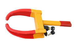 Yellow/red Security Wheel Clamp Lock Fit Car Truck Trailer Atv Motorcycle