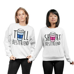 Best Friends Matching Jumpers Sweatshirts Tall Girl Short Gir Funny Graphic Bf10